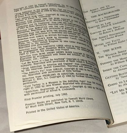 Inner page of William S. Burroughs The Addict.