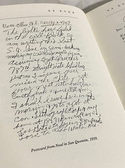 Neal Cassady letter in As Ever: The Collected Correspondence of Allen Ginsberg and Neal Cassady.