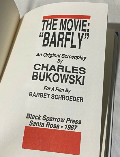 Title page of Bukowski's Barfly