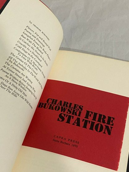 Bukowski's Fire Station opened to the second page