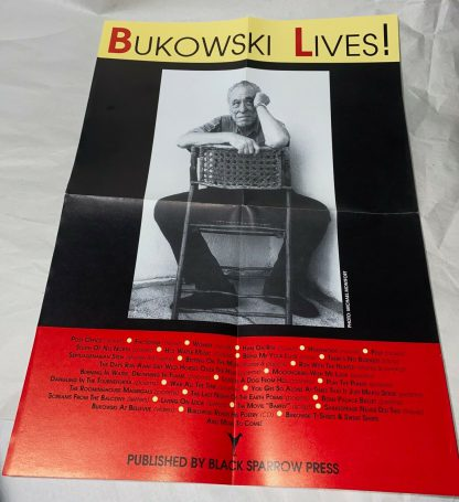 Promo poster included with Charles Bukowski Bone Palace Ballet