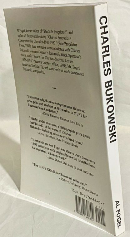 Spine from Charles Bukowski Price Guide and Bibliography