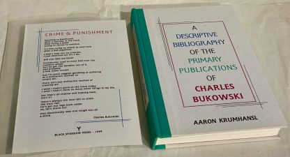 Book and broadside from Charles Bukowski Price Guide and Bibliography