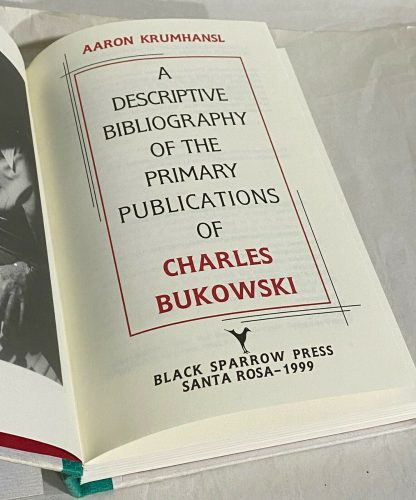 Title page of Charles Bukowski Price Guide and Bibliography