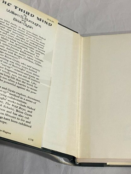 Inner dust jacket flap from The Third Mind unclipped
