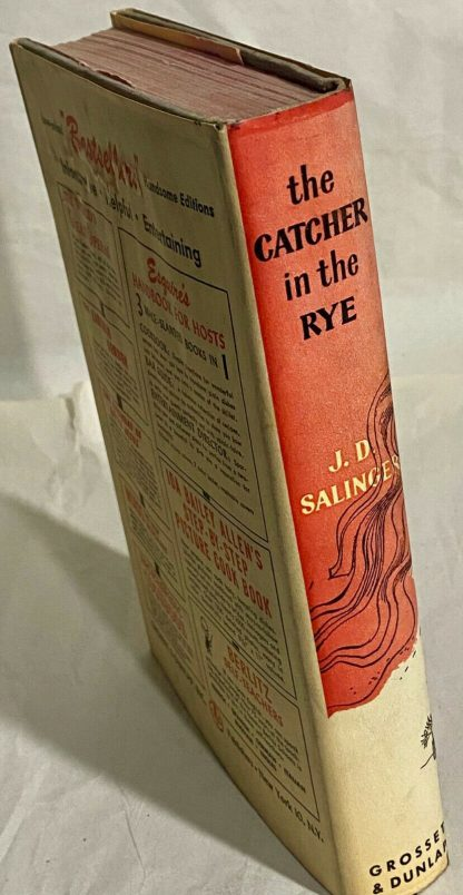 Spine of Grosset & Dunlap edition The Catcher in the Rye