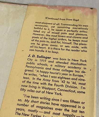 Back cover on Grosset & Dunlap edition The Catcher in the Rye