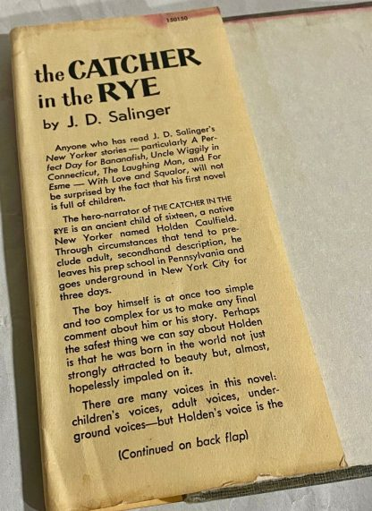 Dust Jacket flap on Grosset & Dunlap edition The Catcher in the Rye
