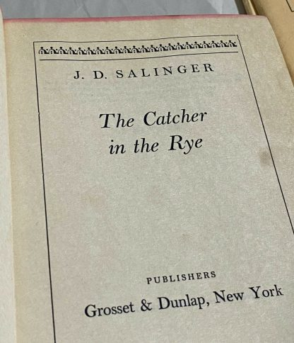 Title page on Grosset & Dunlap edition The Catcher in the Rye