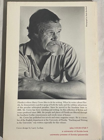 Back cover of HARRY CREWS Florida Frenzy.
