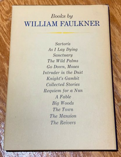Back cover of Faulkner at West Point