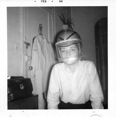 The Girl in a Motorcyle Helmet