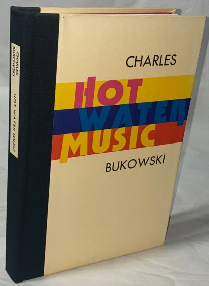 closer cover shot of Charles Bukowski HOT WATER MUSIC first edition