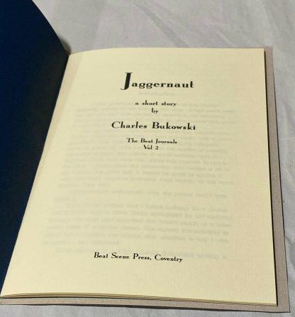 Title page of Charles Bukowski chapbook Jaggernaut