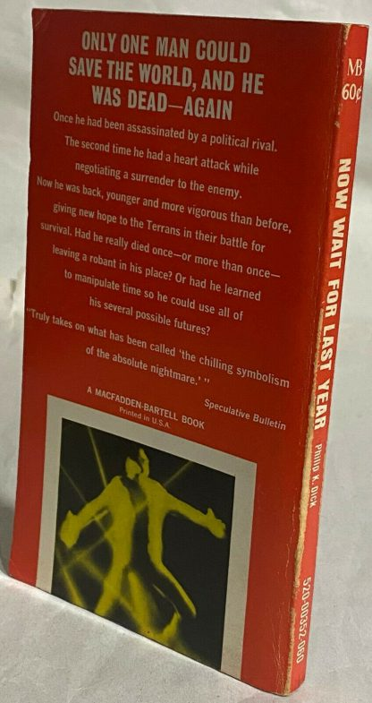back and spine view of Philip K. Dick Now Wait For Last Year