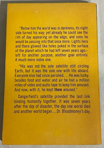 Back cover of True first edition of Philip K. Dick Dr. Bloodmoney, Or How We Got Along After the Bomb