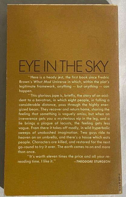 Back cover of Philip K. Dick EYE IN THE SKY Ace 22386