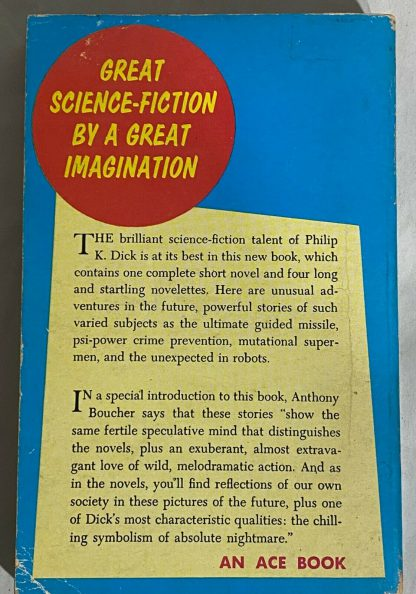 back cover of Philip K. Dick THE VARIABLE MAN AND OTHER STORIES Ace D-261