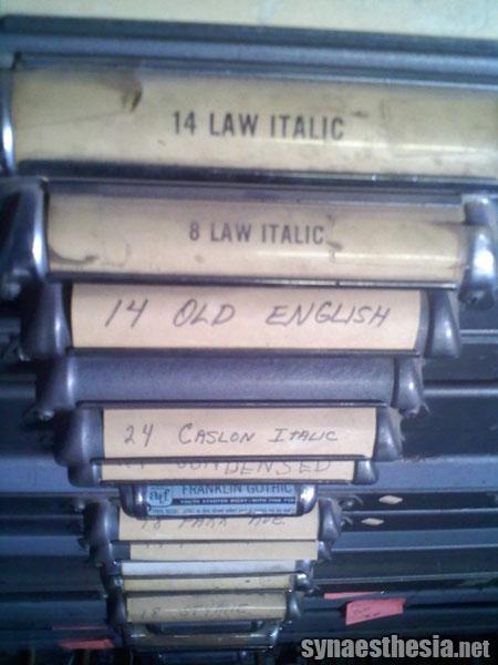 letterpress type cases